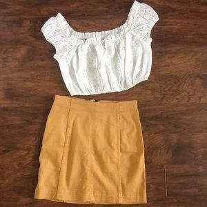 Mustard yellow skirt
